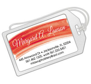 Watercolor Luggage Tags